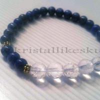 käevõru lapis lazuli ja 5 mäekristalliga