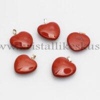 Punane Jaspis, süda, ripats