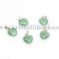 Roheline Aventuriin, süda, ripats